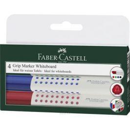 Faber-Castell Маркер для белой доски Grip 4 шт