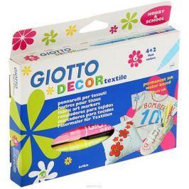 Giotto Набор маркеров для ткани Decor Textile 6 цветов