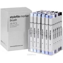 Stylefile Набор маркеров Brush оттенки серого 36 шт