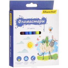 Silwerhof Фломастеры Пластилиновая коллекция 24 цвета