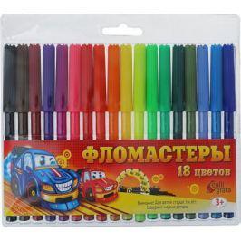 Calligrata Набор фломастеров Машинка 18 цветов