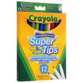 Crayola Фломастеры смываемые Supertips 12 цветов