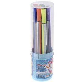 Набор фломастеров Полоска цвет упаковки голубой 12 шт