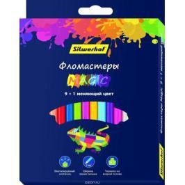 Silwerhof Набор фломастеров с вентилируемым колпачком 9 цветов + 1 меняющий цвет 877068-10