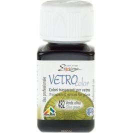 Ferrario Краска витражная Vetro Color цвет №482 оливковый зеленый