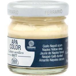 Ferrario Краска акриловая Apa Color цвет неаполитанская желтая темная 40 мл BA0040А0069
