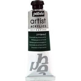 Pebeo Краска акриловая Artist Acrylics Extra Fine №2 цвет фталоцианин изумрудный 37 мл