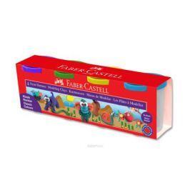 Faber-Castell Пластилин на водной основе в карт коробке 4 шт 520 гр